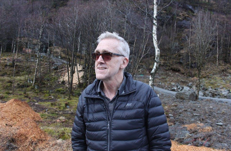 Torleif Heggebø ser fram til det han håpar skal bli ein folkefest, når Grannarmarsjen går av stabelen laurdag 29. april.  Arkivfoto: Arne Frøkedal