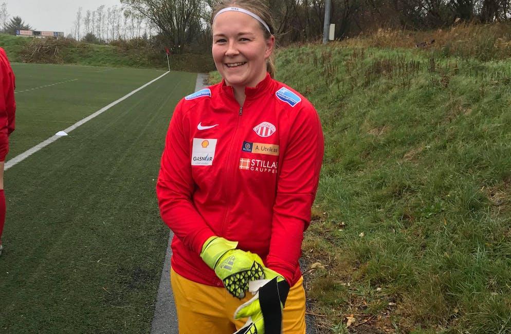 Ragnhild Fosshaug (29) var overraska då Avaldsnes ville ha ho med til Champions League. Foto: Elin Sørheim