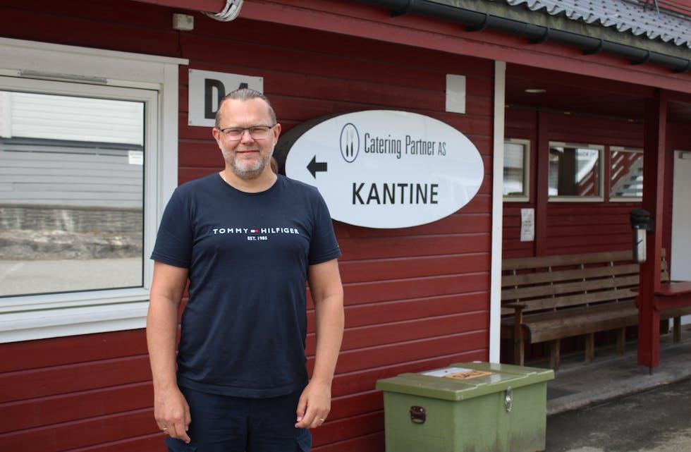 Egil Viker Jørgensen er dagleg leiar i Catering Partner. Foto: Øystein Silde Frønsdal