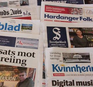 Det samla opplaget til avisene knytt til Landslaget for lokalaviser (LLA) viser svak oppgang.  Illustrasjonsbilde