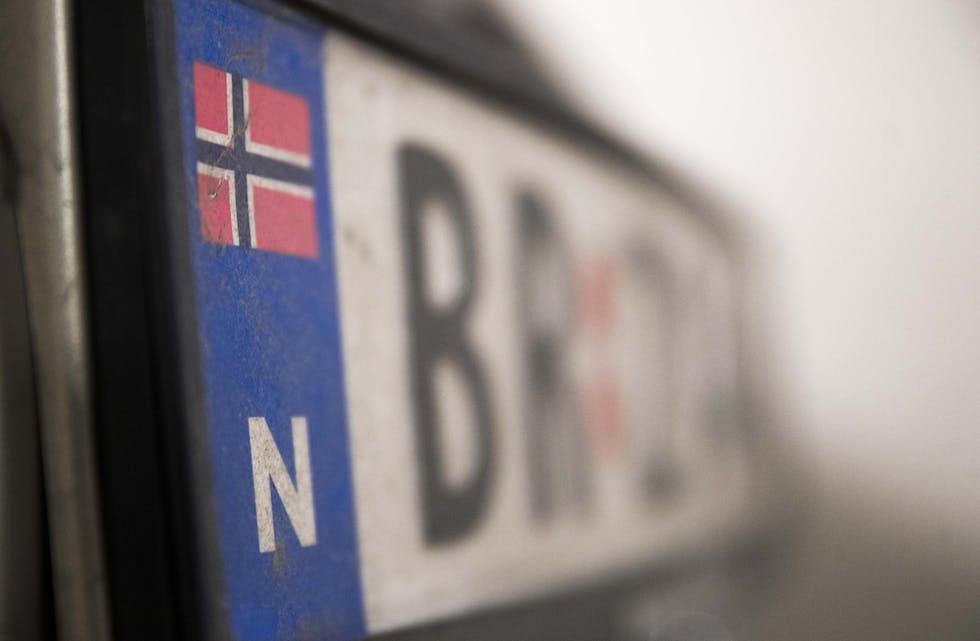 Tjuvar har i løpet av natt til fredag stole kjennemerke to bilar i Grannar-distriktet.  Illustrasjonsoto: Terje Pedersen / NTB / NPK