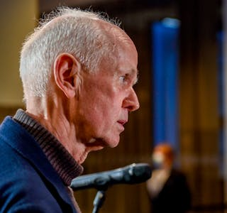 Smitteverndirektør i FHI Geir Bukholm seier dei vil tilrå å gjenopne Noreg i løpet av kort tid. Foto: Annika Byrde / NTB / NPK