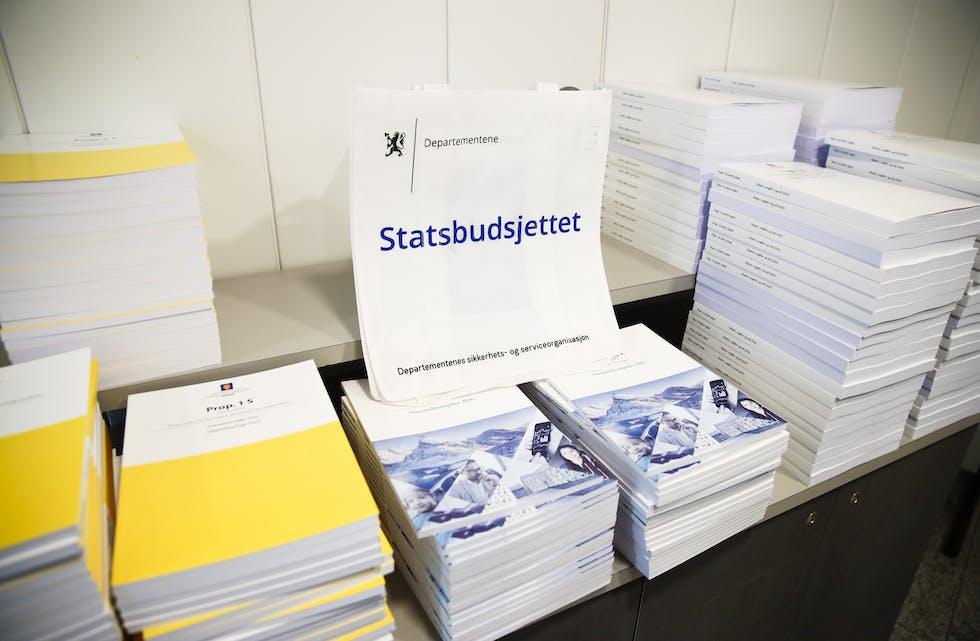 Tysdag presenterer avtroppande regjering statsbudsjettet sitt for 2022. Foto: Håkon Mosvold Larsen / NTB/ NPK